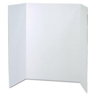 Pacon Spotlight - Spotlight Corrugated Presentation Display Boards, 48 x 36, White, 4/Carton, Sold as 1 Carton