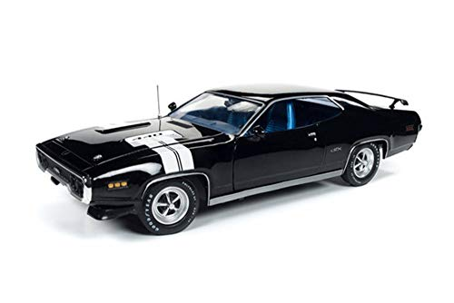 (Auto World 1971 Plymouth GTX Hard Top, Black Velvet AMM1133 - 1/18 Scale Diecast Model Toy Car)