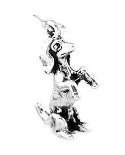 Sterling Silver Dachshund ON Back Legs Charm Pendant Jewelry Making Supply Pendant Bracelet DIY Crafting by Wholesale Charms -