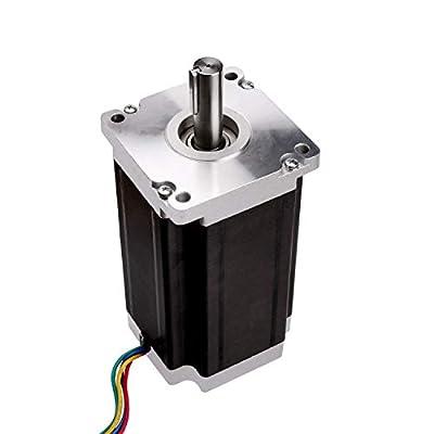 WTCZ Stepper Motor Nema 42 Stepper Motor Bipolar 201mm Body 30N.m Torque 4 Lead 8.0 A with 1.8 Step angle 8.0V for 3D Printer CNC