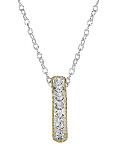 - Montana Silversmiths Crystal Shine in Gold Hanging Bar Necklace