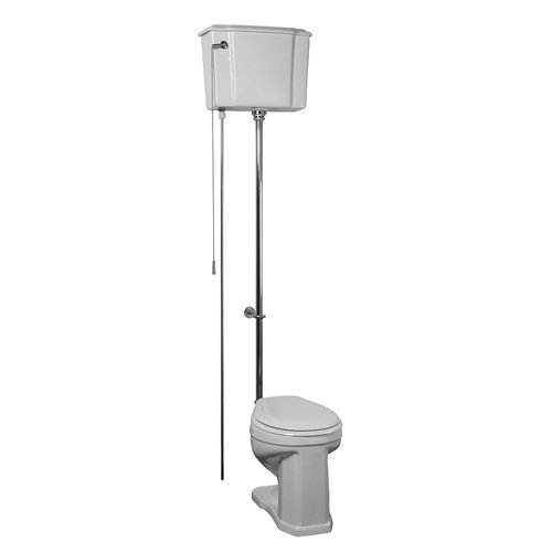 Barclay Victoria High Tank Toilet in White Vitreous China with Oil Rubbed Bronze Hardware by Barclay