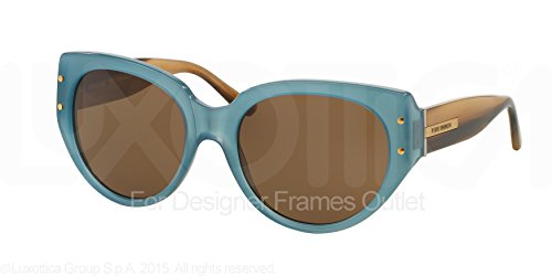Tory Burch Women's 0TY7083 Windsurf/Brown Solid - Vipers Pit Sunglasses Like