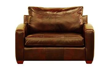 Boulder Chair Leather Sleeper Sofa In Chesterfield Merlot