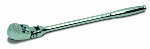 Williams M-52EHFA 1/4-Inch Drive Ratchet, Enclosed Flexible Head, High Polished Chrome