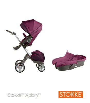 Stokke Xplory V3 Sistema completo de cochecito, color morado: Amazon.es: Bebé