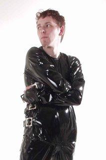 Mens Black PVC Straight Jacket (Large): Amazon.co.uk: Clothing