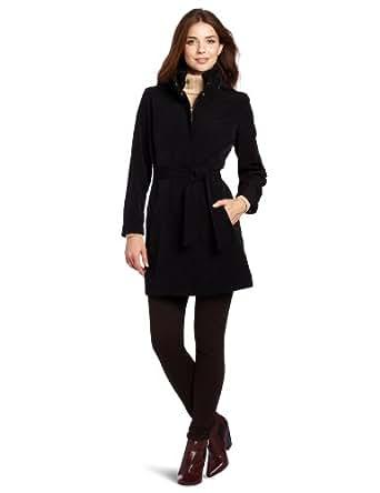 Nautica Women's Rain Coat, Black, Small