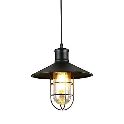 LNC Industrial Edison Vintage Style Vintage Style Black Mini Metal Wire Cage Ceiling Pendant Light Shade