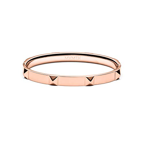 (MVMT Women's Stud Bangle Bracelet | Clasp Closure, Stainless Steel | Rose Gold)