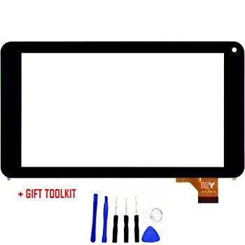 Touch Screen Digitizer Glass Replacement for Digiland Dl700D / Digiland Dl721-RB 7 Inch Tablet PC (Black)