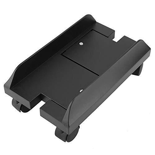 (CPU Stand for PC Computer Case Holder Bracket Desktop Mainframe Storage Rack with Brake with 4 Caster Wheels(Black))