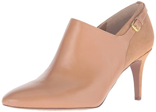 Lauren Ralph Lauren Women's Pabla Ankle Bootie, Camel Kidskin/Kid Suede 7 M ()