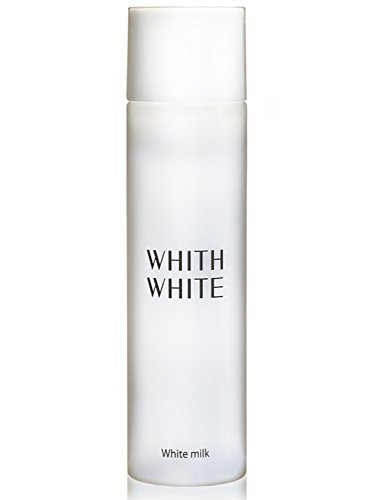 WHITH WHITE Whitening Dry Skin Moisturizer Facial Milky Lotion Emulsion, Made in Japan 日本, Reduce Wrinkles Blotchiness and Darkness, Contain Hyaluronic Collagen, 5.1Fluid Ounce(150ml) (Ponds White Beauty Face Wash For Men)