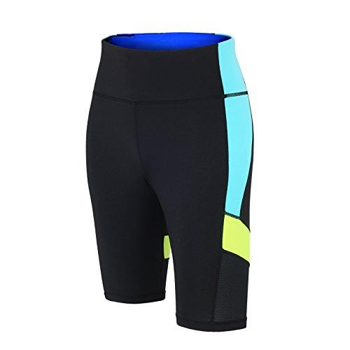 Pantalon Court de fitness Red decoct Short de sport/course/fonction Pantalon/Pantalon de sport/Yoga/Taille Haute/réflecteurs/Noir/Fluo