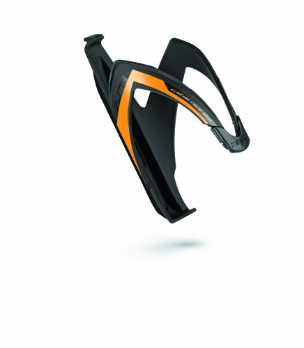 Elite 00616112 Custom Race Skin Water Bottle Cage, Black/Orange Fluorescent