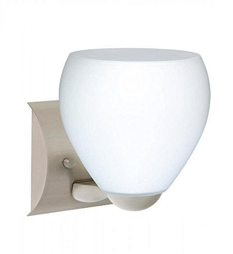 Besa Lighting 1WZ-412207-LED-SN 1X6W Gu24 Led Bolla Wall Sconce with Opal Matte Glass, Satin Nickel Finish