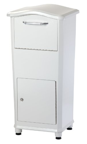 Horse Residential Post Mount - Architectural Mailboxes 6900W Elephantrunk Parcel Drop Box, White