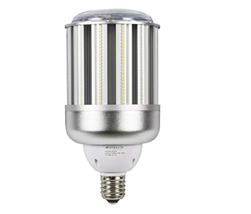 - 120w LED Eco-Friendly Corn Lamp, Daylight White (5000K), 14640 Lumens, Easy Screw in Mogul E39 Base, 50,000 Hour Rated Life, DLC Certified