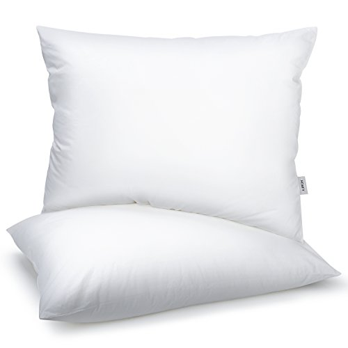 Homfy Premium Cotton Pillows for Sleeping, Bed Pillows Queen Set of 2 with Medium Softness, Hypoallergenic and (Hypoallergenic Bed)