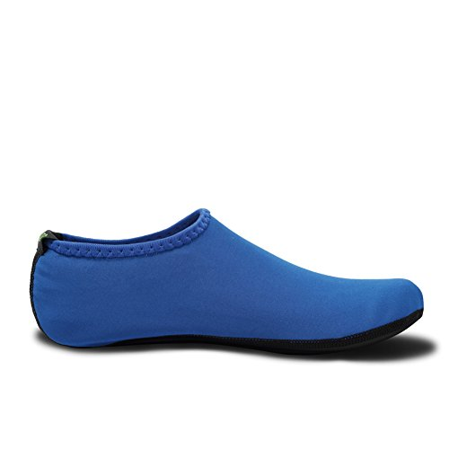 Shoes Yoga Barefoot 3blue Size Swim Fins New Aqua Beach EQUICK Water Surf Version Exercise Pool Durable Socks Updated wxYZq