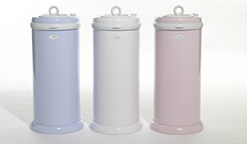 Ubbi Money Saving, No Special Bag Required, Steel Odor Locking Diaper Pail, Pink