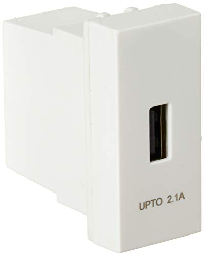 Havells ORO USB Charger 2.1 A Single Port  Glossy White