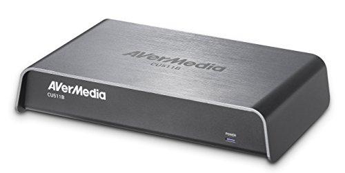 AVerMedia USB3.0 Frame Grabber, Designed for Portability, Analog and Digital Editing, HDMI/DVI/VGA/Composite/S-Video/3G-SDI Input, up to 1920 x 1200 60fps (CU511B)