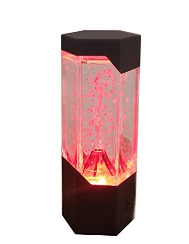 Volcano Lava Hexagonal Led Light Desk Kids Room Table Lamp Night Light