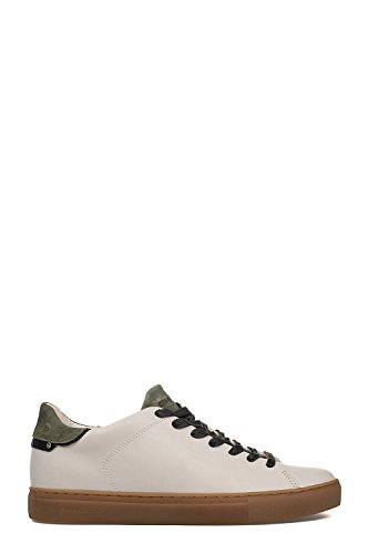 Herren 11207Ks110 Weiss/Grün Leder Sneakers Crime London