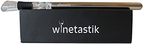Wine Chiller by Winetastik, Premium 3 in 1 Design Contains Stainless Steel Wine Chill Rod, Aerator and Pour in Stylish Box, Best Iceless Wine Chiller