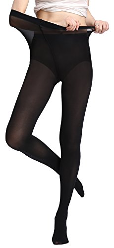 Device Spring (Women's Pantyhose Tight Semi-Opaque Stretchy Stocking | 80D for Spring & Fall Wear | Black)