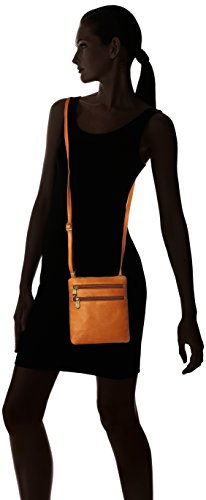 Zip Double Tan Body Tan Bag Crossbody Leather One Colombian Size Leather Royce Cross OCwIqtwz
