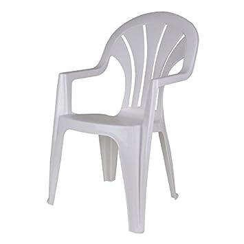 Gartenstühle kunststoff  Robuster Monoblock - weiß - Gartenstuhl stapelbar - Gartenmöbel ...