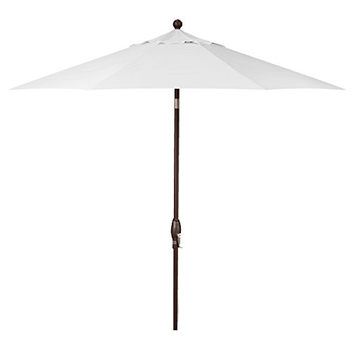 9-Foot Treasure Garden (Model 810) Deluxe Auto-Tilt Market Umbrella with Bronze Frame and Obravia2 Fabric:  Natural
