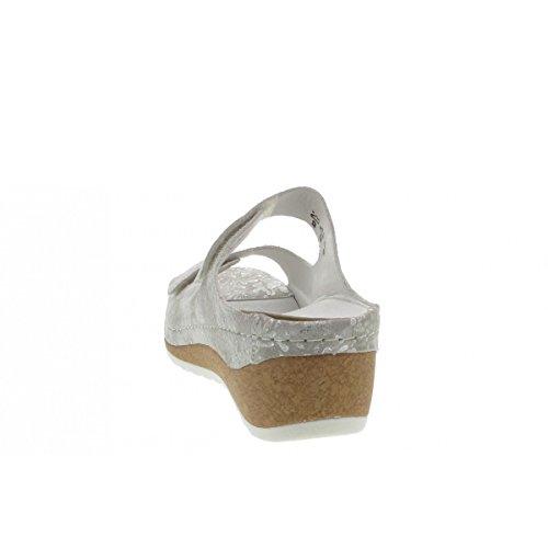 Waldläufer Women's 306501-112-211 Clogs Grey / Silver p2V36