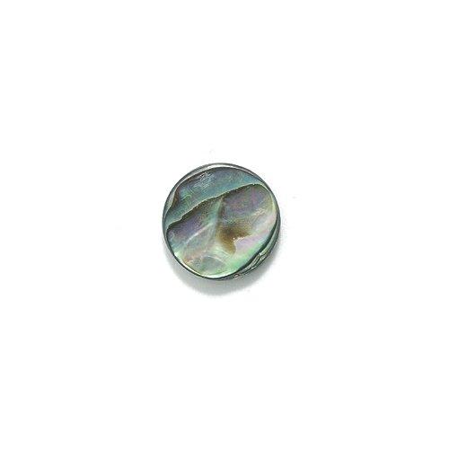 Iris Abalone (Shipwreck Abalone Flat Round Beads, 12-mm, 32-Piece/Pack)