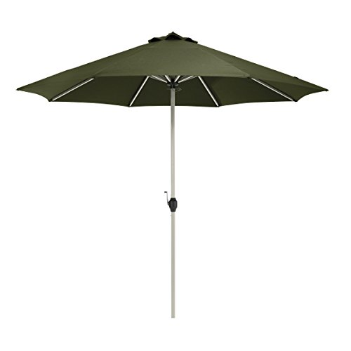 (Classic Accessories Montlake FadeSafe 9-Foot Round Aluminum Patio Umbrella, Heather Fern)