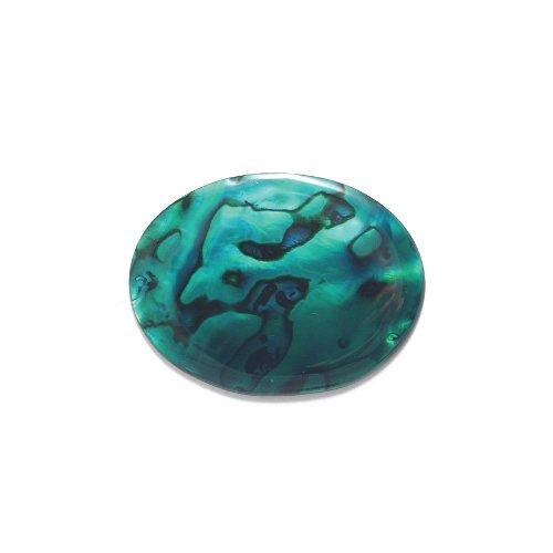 Green Paua Abalone Shell (Shipwreck Beads Abalone Oval Cabochon, Green, 30 by)