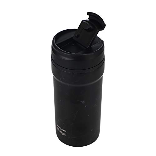 - Stainless Steel Insulated Tumbler With Leak Proof Flip Lid-Double Wall Vacuum Insulated Coffee Mug With Ceramic lined Works Great for Ice Drink, Hot Beverage Black