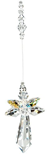 Woodstock Large Crystal Aurora Borealis Guardian Angel- Rainbow Maker Collection ()