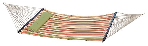 Classic Poly Quilted Hammock (Bliss Hammocks Spun Reversible Quilted Polyester Hammock with Pillow)