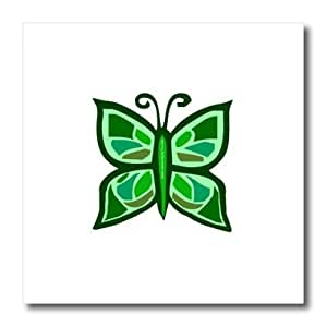 ht_13100_3 Deniska Designs Butterfly - Green Butterfly - Iron on Heat Transfers - 10x10 Iron on Heat Transfer for White Material