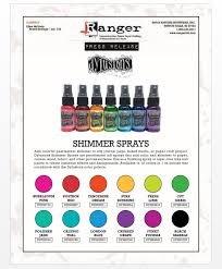 Ranger Dylusions Shimmer Spray Bundle - 12 Bottles, 1 fl oz