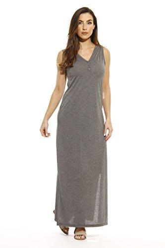 Just Love 401501-CHR-XL Summer Dresses/Maxi Dress Heathered Charcoal ()