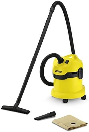 Karcher WD 2 Canister Vacuum Cleaner, Yellow & Black