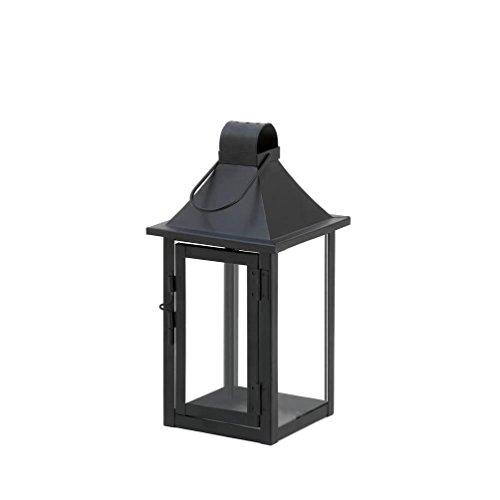 "[3 Small Black 9"" Malta Candle Holder Lantern Light Outdoor Garden Terrace Patio] (Terrace 3 Light Pendant)"