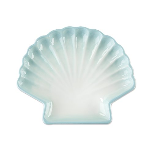 Kate Aspen 23158BL Sea Shell Trinket Dish, Blue and White