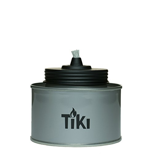 "TIKI Brand 4.5"" TIKI Tin Table Torch, Silver $0.75"