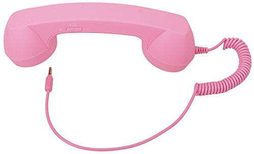 AshopZ Retro Telephone Handset 3.5mm Cell Phone Receiver for Iphone,Pink from AshopZ